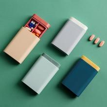 Pilulier Portable à pilulier 4 couleurs organiseur Portable pour stockage de pilules 4 couleurs
