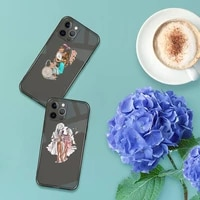 mom and baby phone case for iphone 13 12 11 8 7 se 2020 pro x xs xr max plus black transparent cover