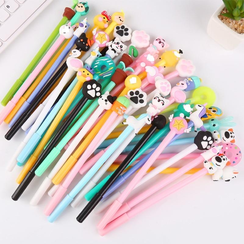 50 PCs Creative Cartoon Writing Tool Cute Neutral Pen Office Stationery Student Signature Pen Wholesale