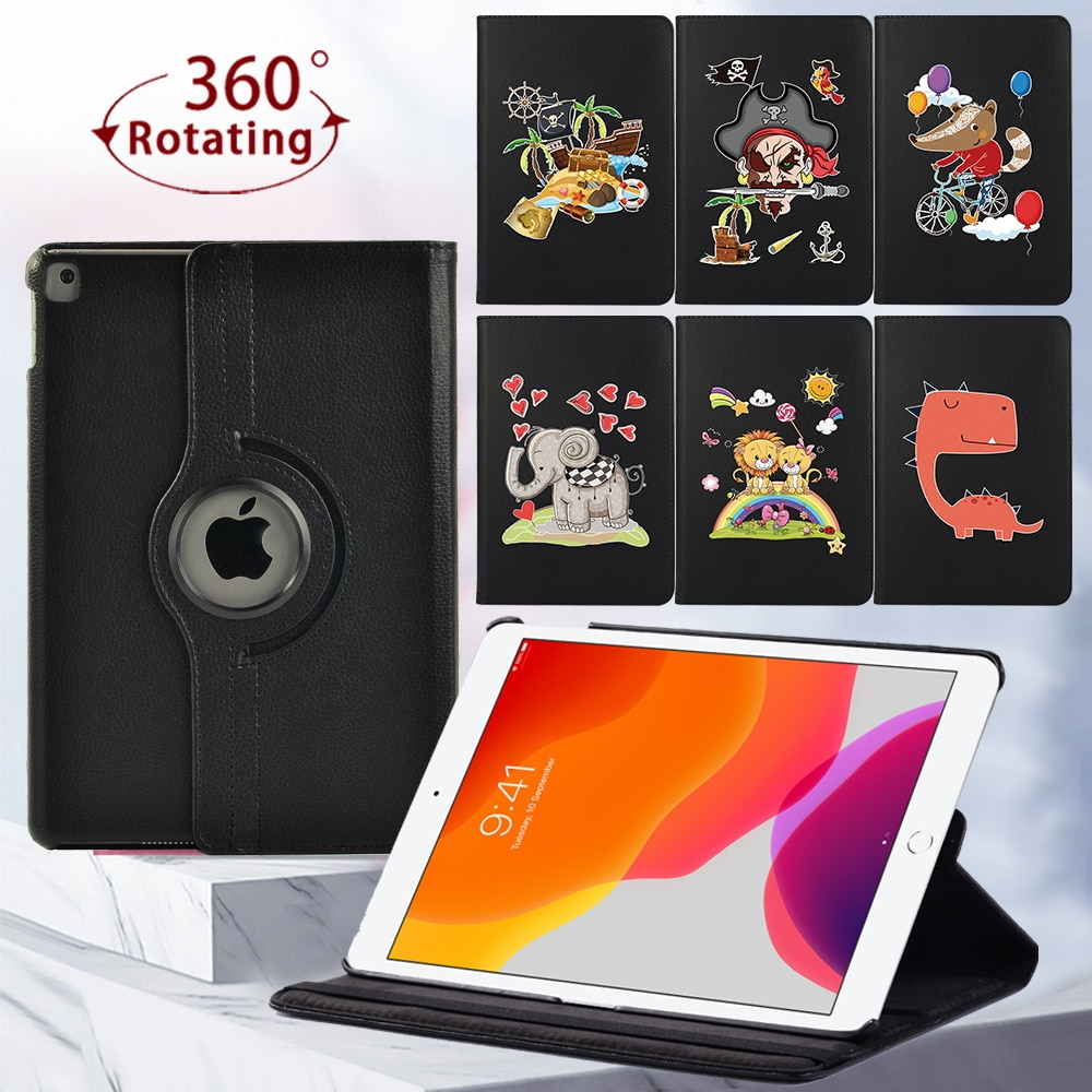 360 Rotating Tablet Case for Apple IPad 8th Gen/(5th/6th/7th) Gen/IPad 2/3/4/ IPad Mini 4/5 Protective Case + Free Stylus