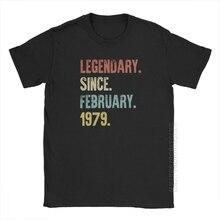 Rétro Vintage 40th anniversaire T-Shirts légendaires depuis février 1979 T-Shirts homme haute rue Fun t-shirt pur coton imprimé
