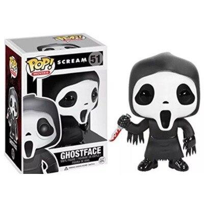 Funko POP gritar-Ghostface 51 la acción pennywise figura Anime modelo juguetes de coleccionismo de Pvc