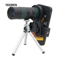 8 24x zoom monocular telescope mobile phone telescope with tripod cell phone clip telescopic monocular for hiking camping