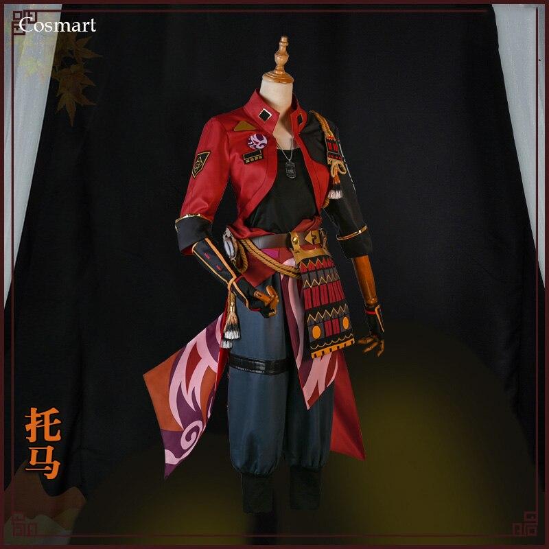 بدلة ألعاب من Genshin بتصميم إنازوما توهما ، أزياء تنكرية لحفلات الهالوين ، أزياء حفلات كرنفال للرجال جديد لعام 2021