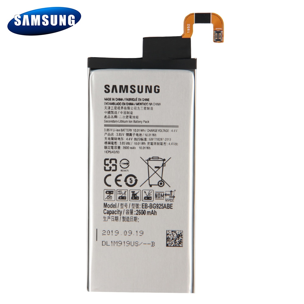 Original EB-BG925ABA Battery For Samsung GALAXY S6 Edge G9250 G925l G925F G925L G925K G925S EB-BG925ABE Phone Battery 2600mAh enlarge