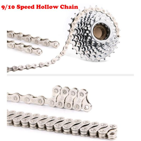 Bike Chain Solid Road Bicycle 9/10S Half Hollow Chains & Chain Link