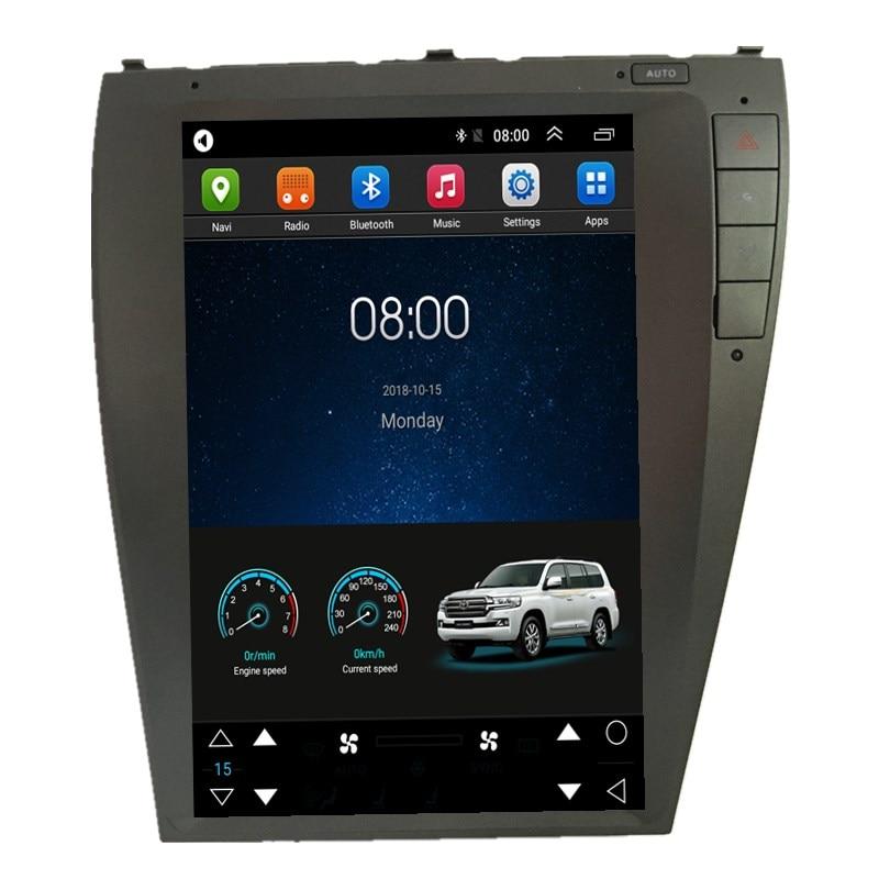 """12,1 """"estilo Tesla Android Car Radio de Audio se sentó unidad principal de navegación para Lexus ES ES240 ES250 ES330 ES350 2006, 2007, 2008, 2009, 2010, 2011"""