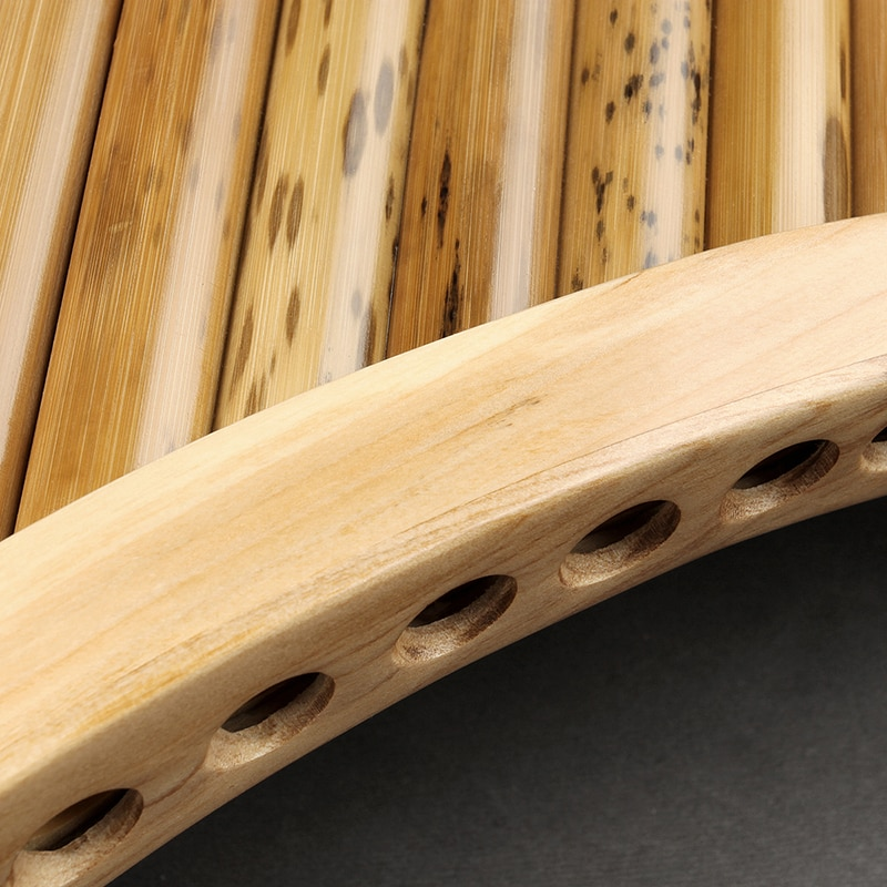 25 Pipes C Key Sptted Bamboo Pan Flute  Traditional Romanian   Woodwind Instrument Handmade Pan Pipe enlarge
