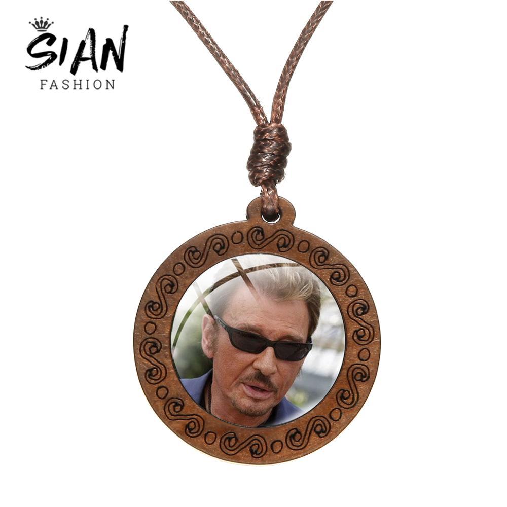 Colgante de madera de la novedad del collar de la imagen atractiva de la música de Rock caliente de la cantante de cristal de la cúpula colgante de los Fans de la joyería