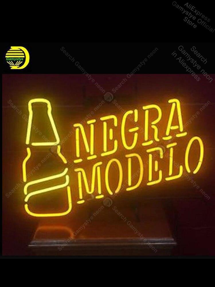 علامة نيون لنموذج نيجرا ، علامة لمبة نيون مصنوعة يدويًا ، شريط بيرة ، نوافذ منزلية ، جراج ، ملصقات جدارية مزخرفة ، متجر