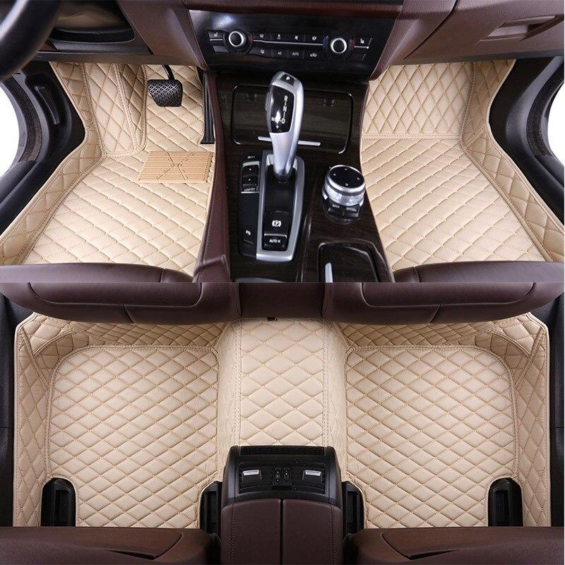 Custom Car Floor Mats for Jaguar XF XE F-PACE F-TYPE XJL XJ6 XJ6L Soft Floor Mat Car Accessories Styling Foot Mats