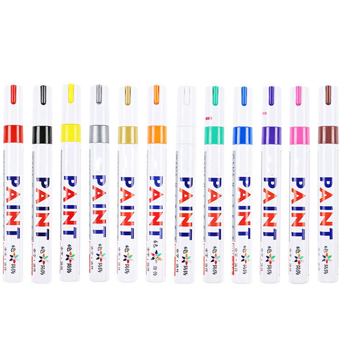 Nuevo 12 colores rotuladores de pintura para reparación de pintura de automóvil...
