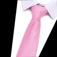100 silk 2021 gravatas pink 7 5 cm solid necktie tigh fashion plaid ties for men slim cotton cravat neckties men