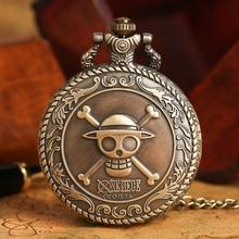 2020 Hot Selling Men's Japan Cartoon Anime One Piece Pocket Watch Fashion Men Women Necklace Chain V