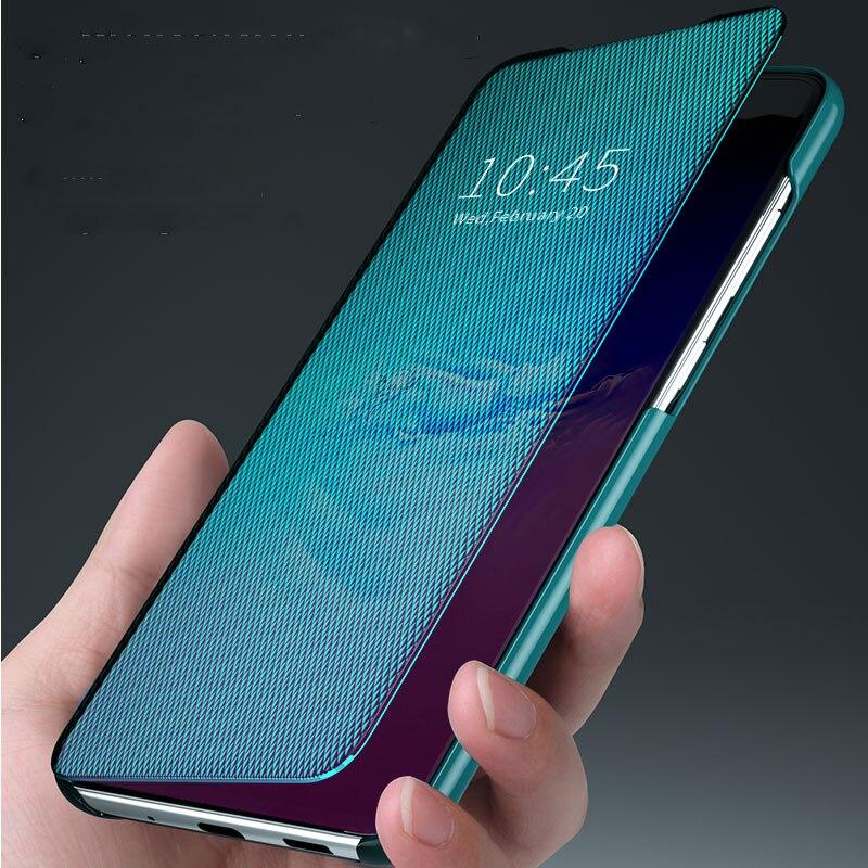 For Samsung A51 Case 2020 New Texture Mirror Flip Leather Case For Samsung Galaxy A51 Cases A 51 A10S A20S Phone Cover Coque A51