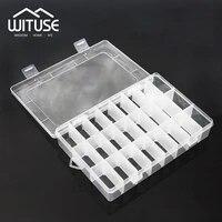 jewelry storage plastic earrings ring box adjustable transparent portable box case craft makeup organizer multi grids plastic