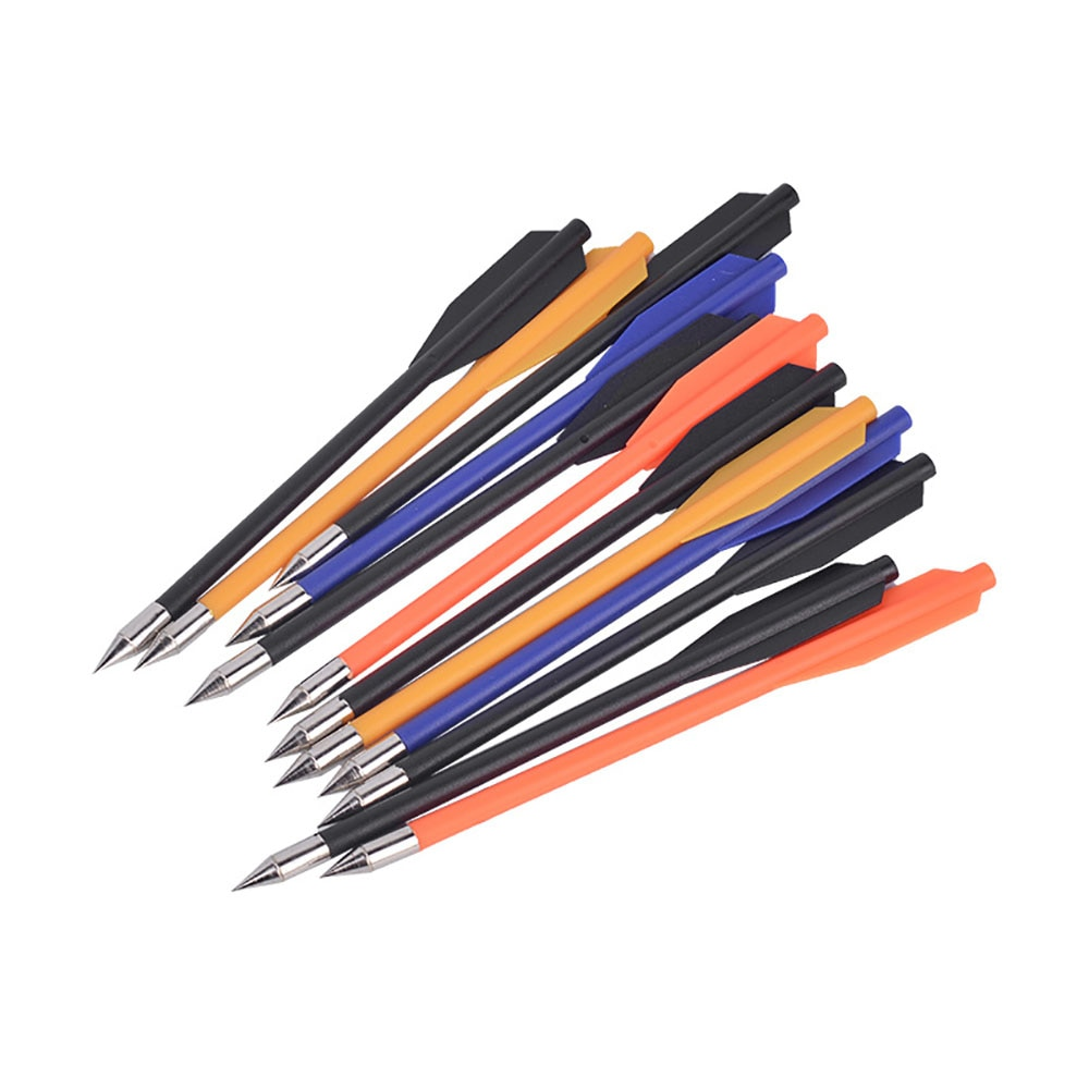 12 pçs crossbow bolt arco e flecha recuve & arco composto recurvo prática setas tiro