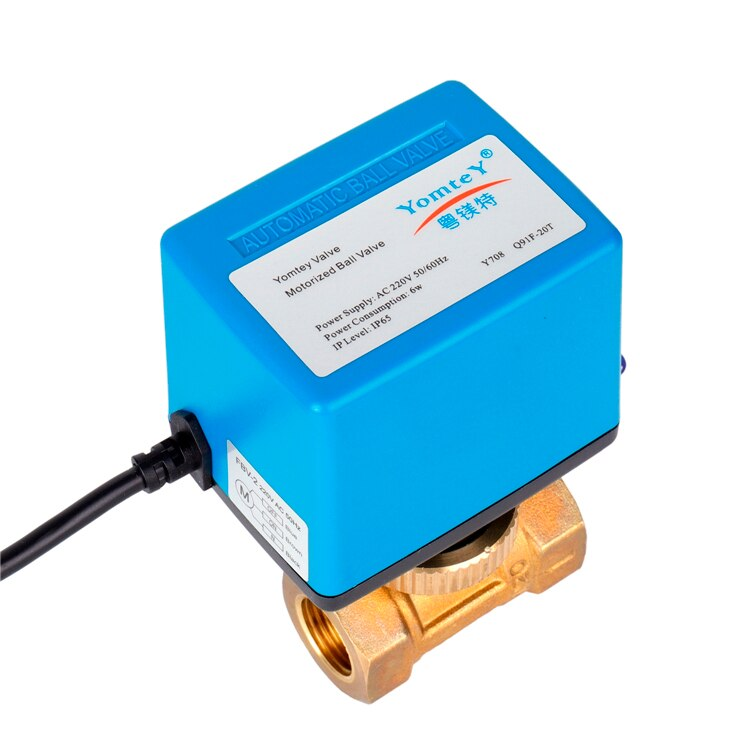 New Design Eco-friendly AC 220V Electric Motor Valve Two Way Electric Water Actuator Valve enlarge