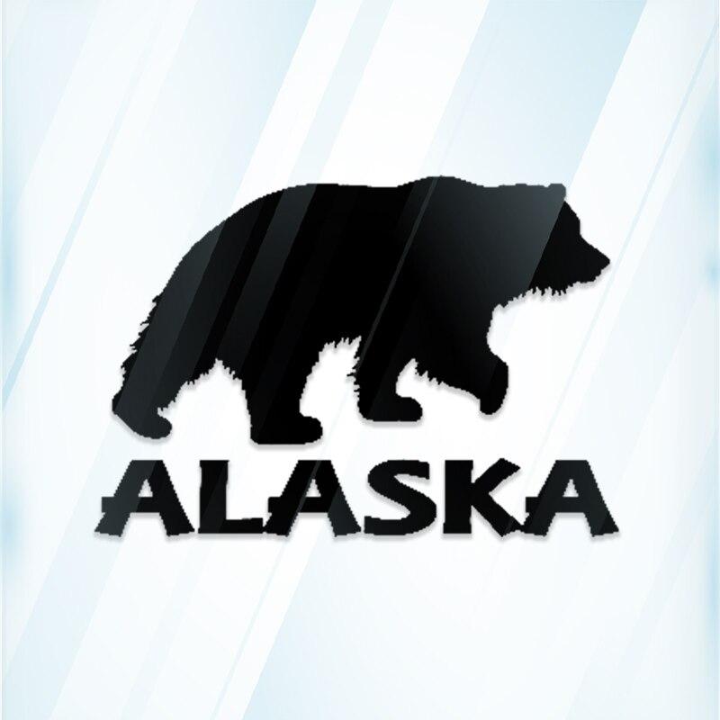 Alasca urso k312 6 polegada decalque kodiak grizzly adesivo janela