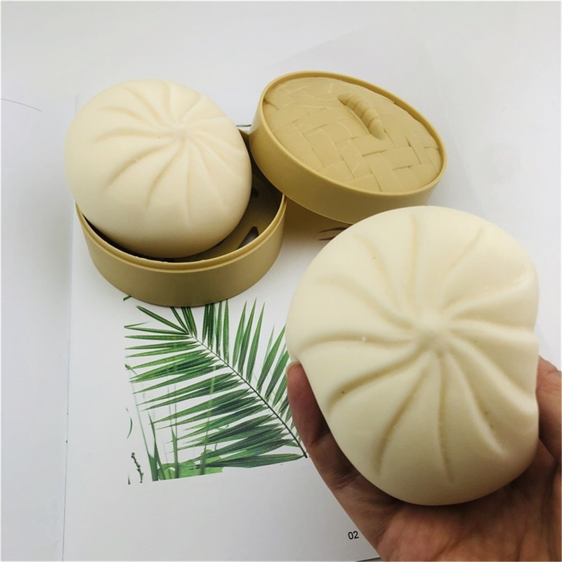 Unzip Steamer Of Steamed Stuffed Bun Fidget Sensory Toy Autism Special Needs Stress Reliever Stress Soft Squeeze Toy enlarge