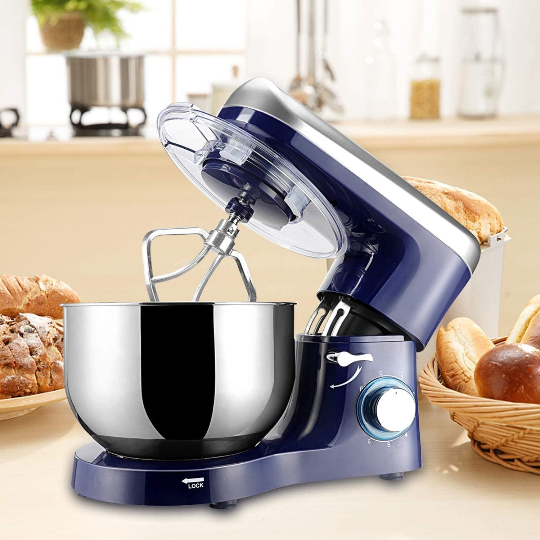 Stand-Mixer Küche Mixer Teig Mischer 6 Geschwindigkeit 1500W 5,5 L Edelstahl Schüssel Lebensmittel Mixer Creme Ei schneebesen Kuchen Brot Maker