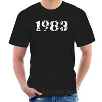 mens 1983 t shirt printing short sleeve leisure fit comfortable summer pictures shirt