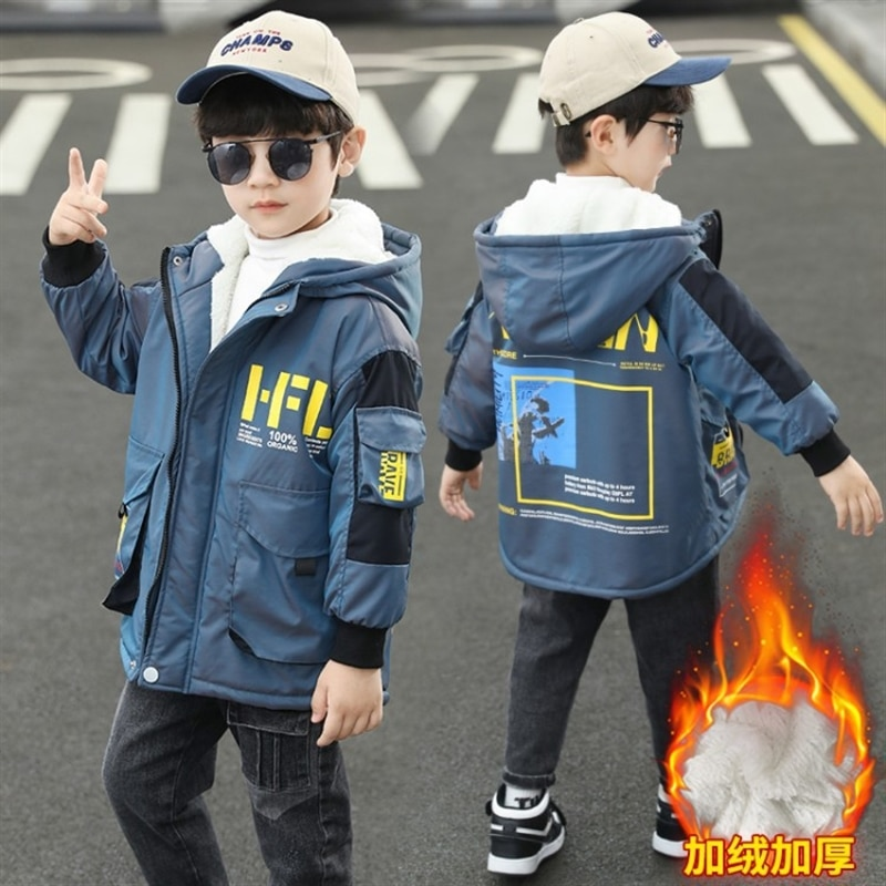 Boys Jacket 2020 -30 Degrees Russia Winter Children Hooded Warm Down Jacket for Boy Teenage Outerwear Kids Parka Coats with Fur enlarge