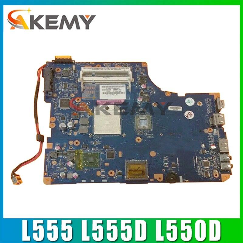 AKEMY K000093250 اللوحة الأم لأجهزة الكمبيوتر المحمول توشيبا الأقمار الصناعية L555 L555D L550D LA-5332P اللوحة الرئيسية