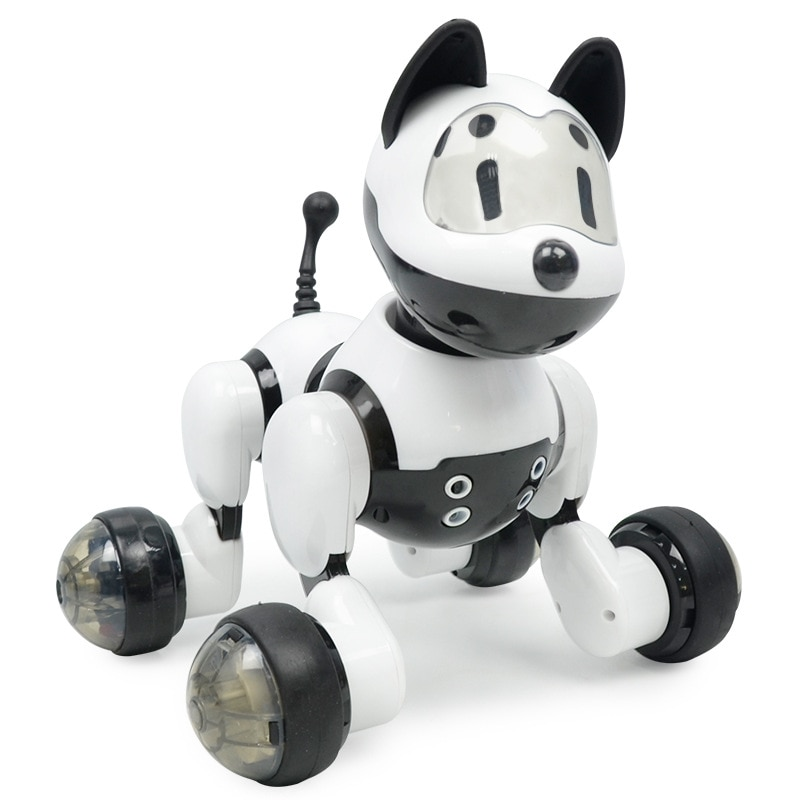 New Electronic Pets Gesture Sound Control Robot Dog Cat Cute Interactive Toys Dog For Children Gifts with Box