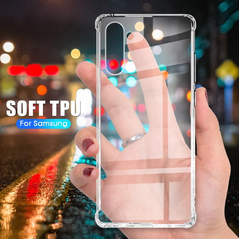 Funda transparente anticaída para Samsung Galaxy Note20 ultra Note20 S20Ultra S20Plus S20 Note10, funda a prueba de golpes para Sumsang