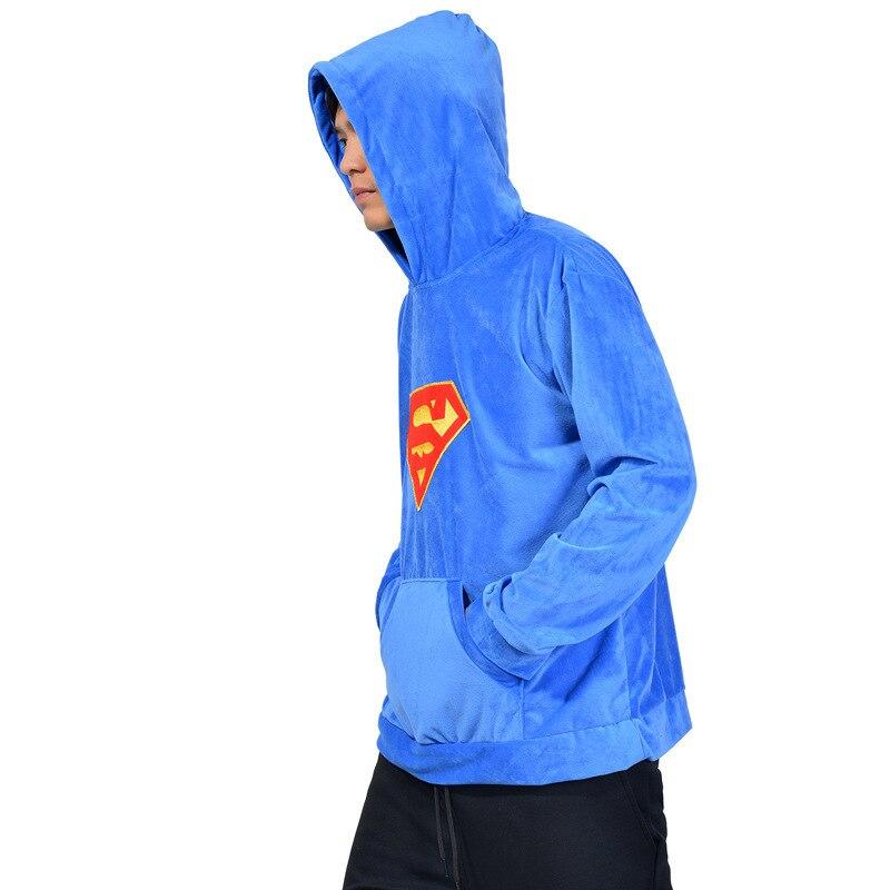 Kigurumi onesie Cosplay bate caballeroso rayo caballeroso amantes suéter de manga larga Sudadera con capucha movimiento abrigo suelto Superman