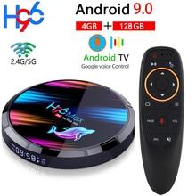 Android 9.0 H96 MAX X3 1000M Smart TV Box Amlogic S905X3 8K 4GB 128GB 64GB 2.4 & 5G Wifi BT 4K lecteur multimédia Android TV décodeur