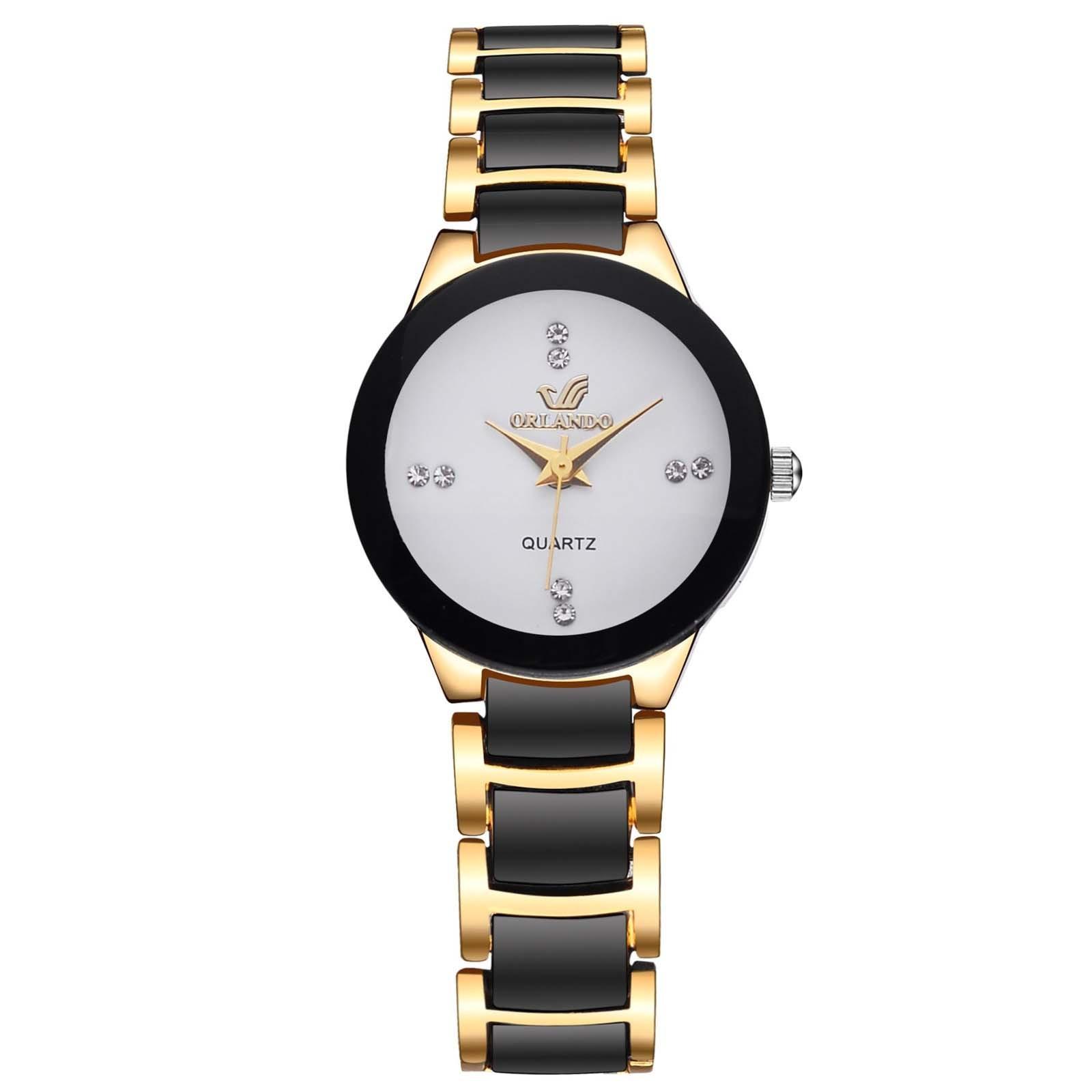 Luxury Fashion Women Watch Stainless Steel Strap Quartz Clock Diamond Dial Ladies Watch Jewelry женские часы недорого F5
