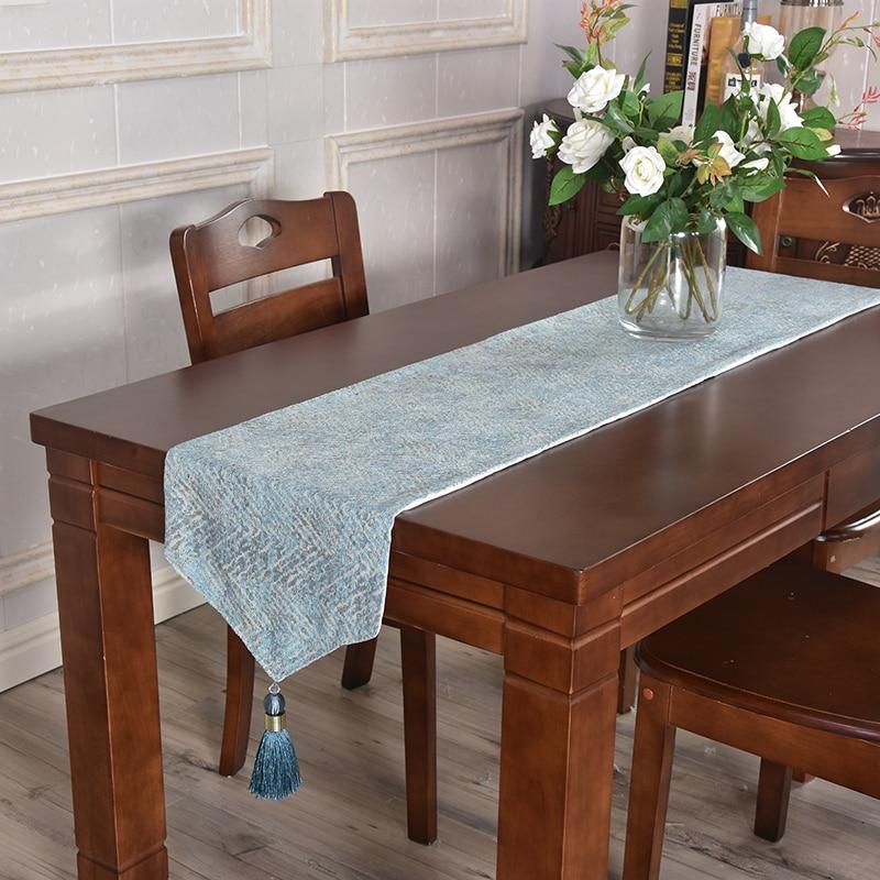 Luxo médio pano de mesa moda piano borla mesa corredor tira para o armário do vinho estilo europeu simples para mesa de jantar