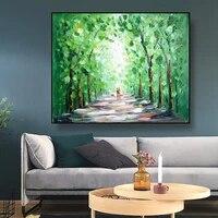 Romantique abstrait toile peinture rue Art affiche et impression nordique decoration maison mur Art photo pour salon maison deco