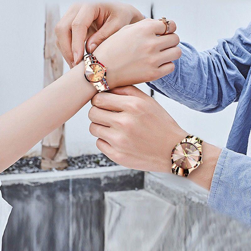 Automatic Movement Watch Women's Fashion Watch Trend Waterproof Luminous Tungsten Steel Women's Watch Versatile Women's Watch enlarge