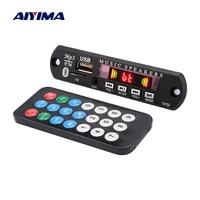 AIYIMA     decodeur MP3 Bluetooth  carte Audio USB TF FM AUX  Module de decodage denregistrement de cinema a domicile  mains libres  amplificateur de haut-parleur