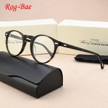 جديد العلامة التجارية خمر نظارات دائرية إطار النساء الرجال القراءة الكمبيوتر وصفة طبية النظارات البصرية واضح عدسة الرجعية نظارات OV5186