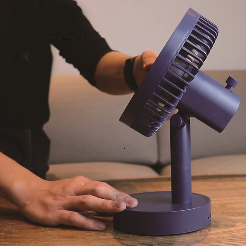 USB вентилятор перезаряжаемый маленький вентилятор портативный Настольный Электрический вентилятор трехскоростной 6-дюймовый 180 ° встряхив...