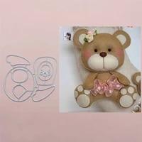 bear bow metal cut dies stencils for scrapbooking stampphoto album decorative embossing diy paper cards