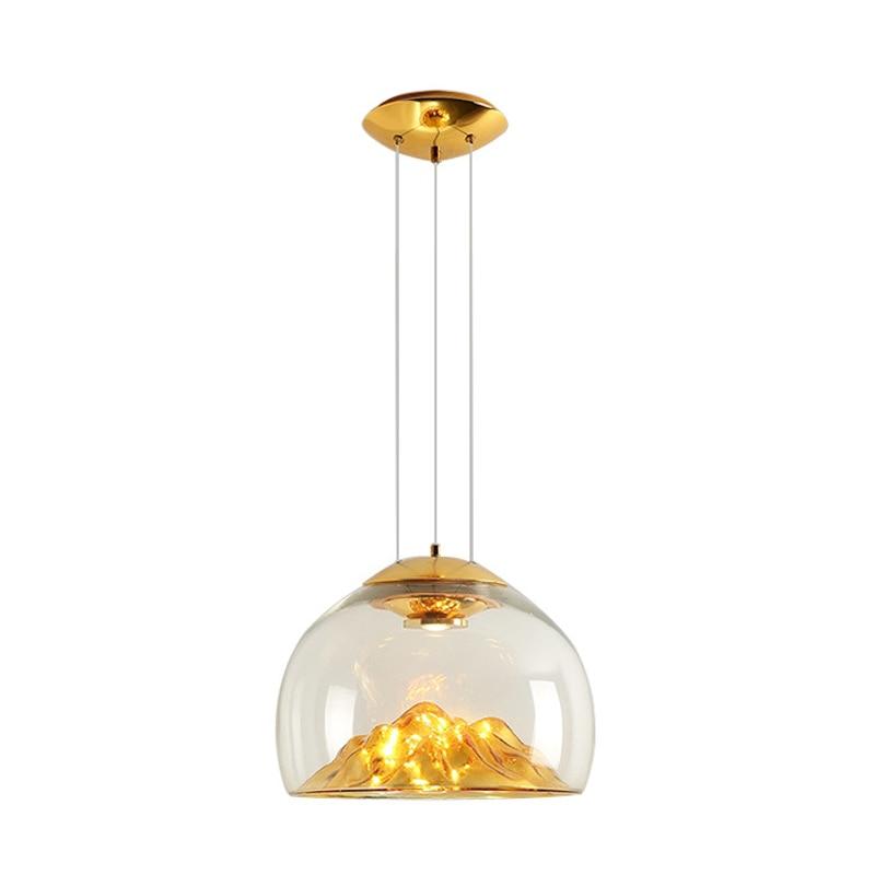 Lámpara De cristal Led Colgante, luces De cristal sopladas a mano para comedor, dormitorio, salón