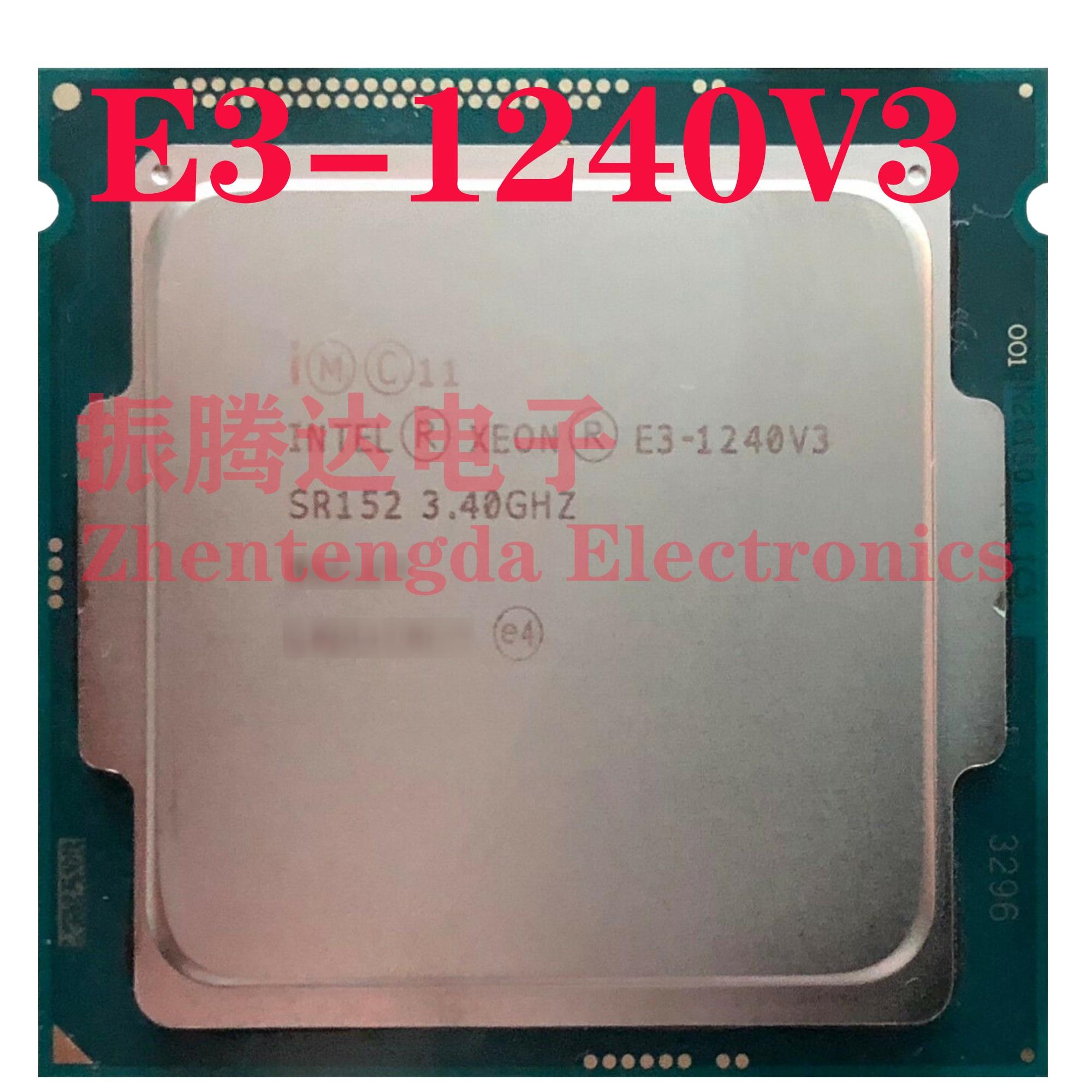 Intel Xeon E3-1240 v3 3.4GHz 8MB 4 Core 8 Thread LGA 1150 E3-1240v3 CPU Processor