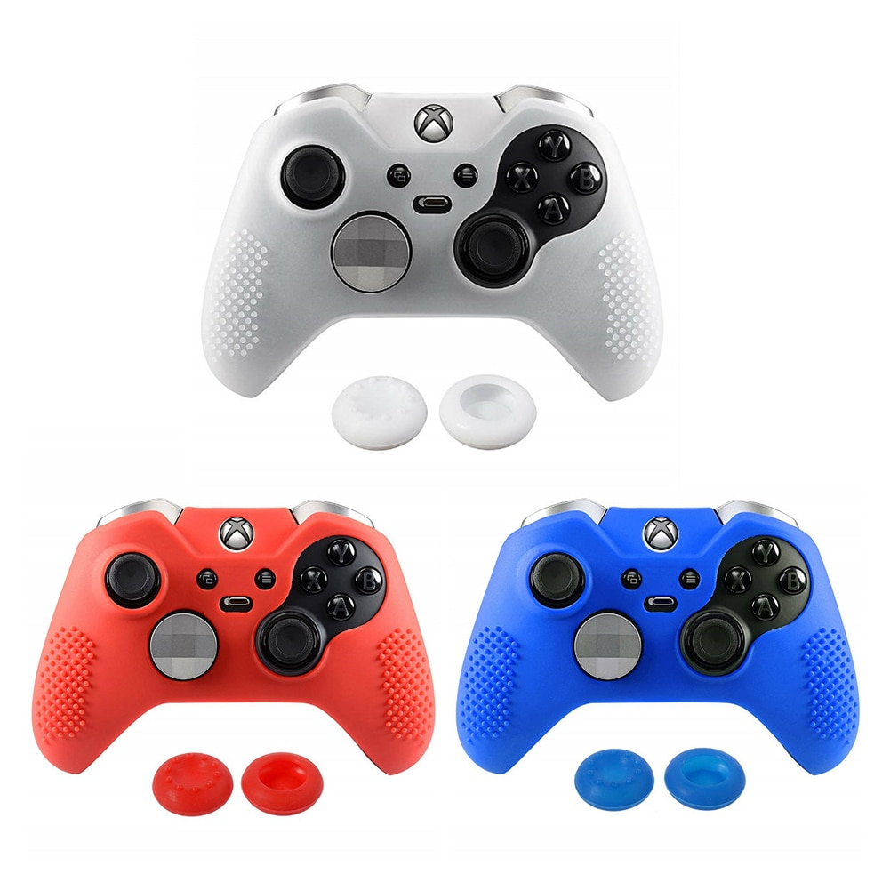 1 Pcs Silicone Protective Sweat Case Cover Skin Shell For Xbox One S X Controller With 2 Thumbsticks Stick Caps Unusual