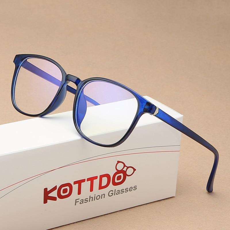 KOTTDO Retro Mens Glasses Frame Fashion Computer Eyeglasses Frame Women Anti-blue Light Transparent