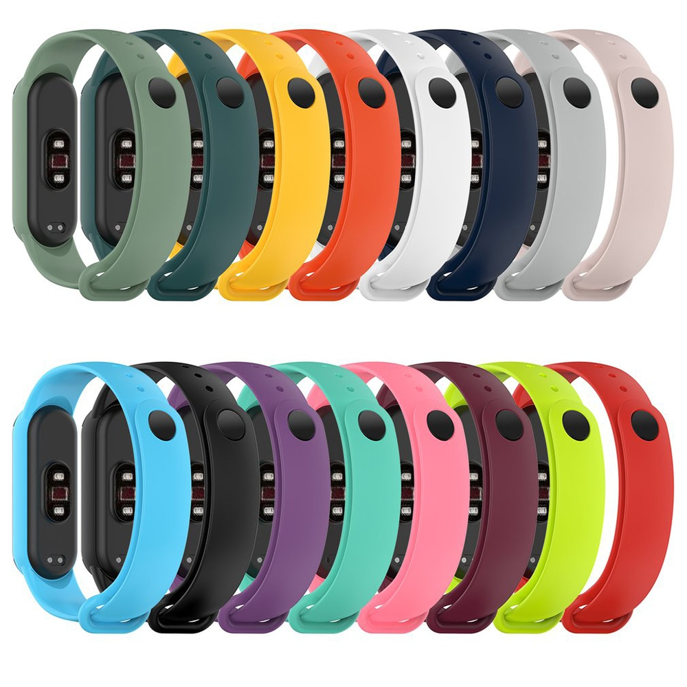 Watchband For Xiaomi Mi Band 5 Strap Silicone Wristband Smart Watches Bracelet For MiBand 5 TPU Replacement Straps Correa Reloj