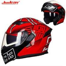 DOT сертификация флип ап Moto rcycle шлем JK902 полное лицо с двумя объективами мото гоночный шлем capacete moto cicleta cascos casque