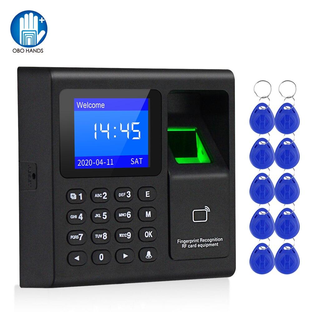 لوحة مفاتيح RFID للتحكم في الوصول ببصمة الإصبع ، نظام قياس حيوي ، قارئ بطاقات كلمة المرور ، USB ، جهاز الحضور ، 10 مفاتيح ، بدون برامج