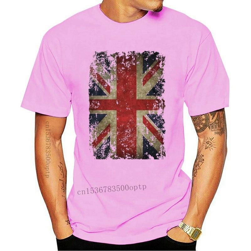 New Tee Union Jack T-shirt Distressed Grunge Vintage Uk British Flag Great Britain T Shirt Cheap Wholesale