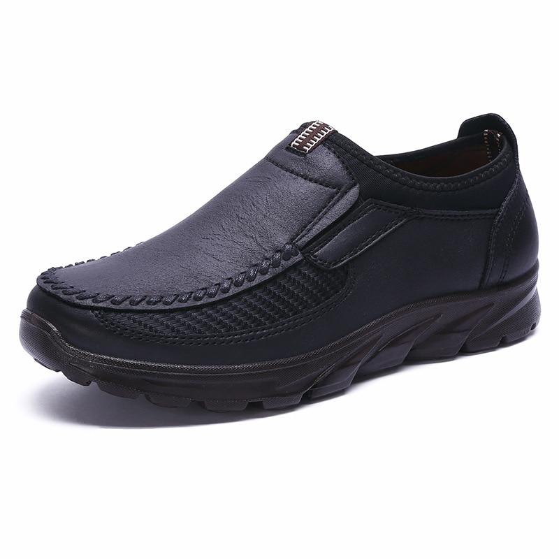 Gran oferta de zapatos de invierno para hombre, mocasines planos ligeros informales a la moda sin cordones transpirables de suela blanda para hombre, zapatos planos de marca de lujo para hombre 48