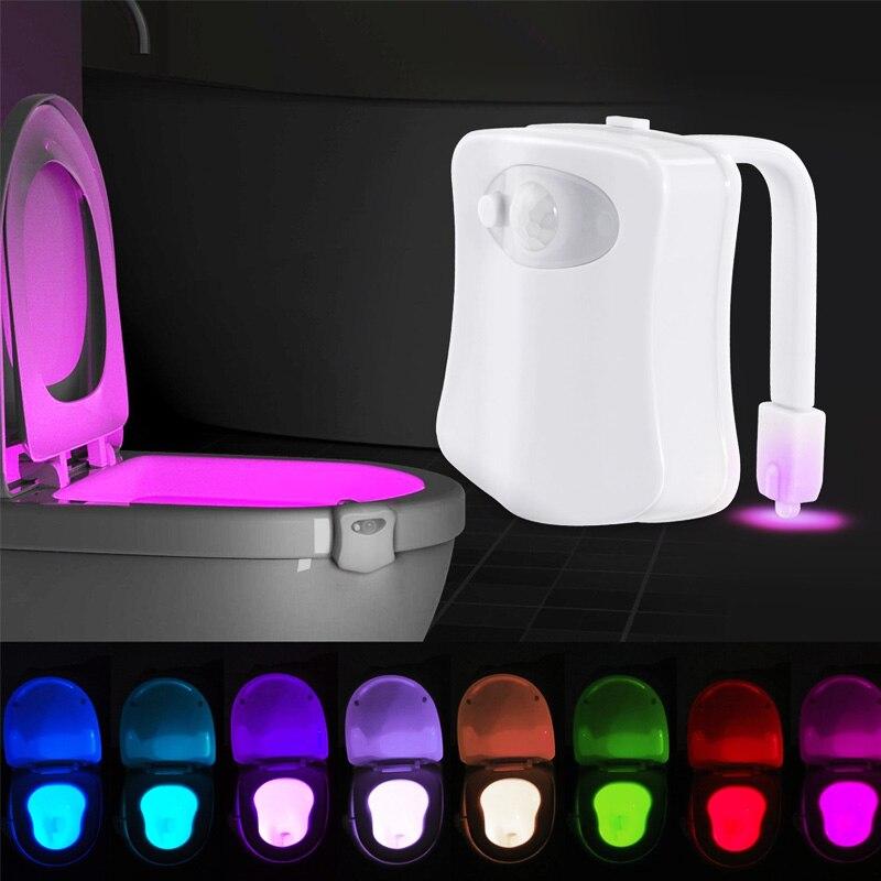 Автоматический светильник для унитаза ZK10, светодиодный ночник с датчиком движения, 8 цветов
